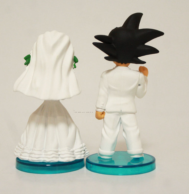 2Pcs Set Dragon Ball Goku ChiChi Wedding PVC Action Figure Toy