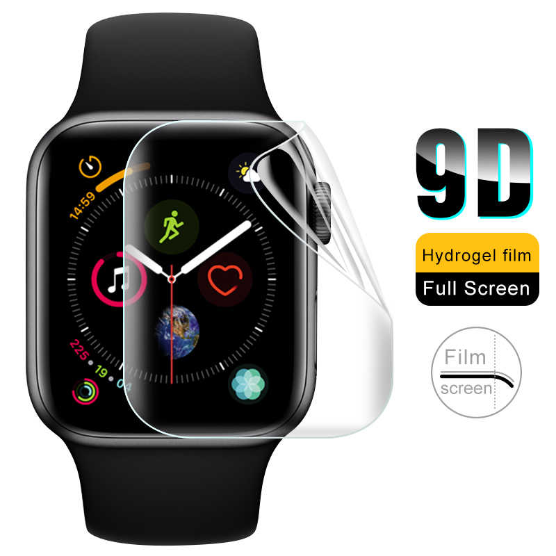 9D Full Screen For iWatch 4 3 Hydrogel Film Protector Glass For Apple Watch 1 2 3 4 Tempered Film Curve Edge Glass 38/40/42/44mm