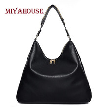 Miyahouse Solid Color Shoulder Bag Large Capacity PU Leather Messenger Bag For Female England Style Crossbody Bag For Women
