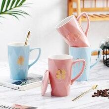 OUSSIRRO Ceramic Coffee Mugs Mr and Mrs Tea Milk Cup Gift Box with Lid Spoon Creative Wedding Anniversary