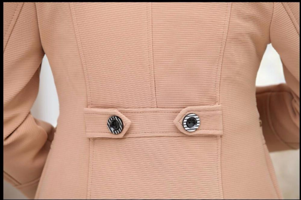orange Xl Veste 4xl Et Nouvelle Robe Petit Costume Automne Taille Printemps Mère Mode Court D'âge Femmes Manteau bleu Moyen kaki Grande Noir r1dBxZwrq