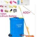 A 10/12/14AH batería de litio inteligente pulverizador eléctrico pesticida agrícola dispensador de carga de alta presión equipo de jardín