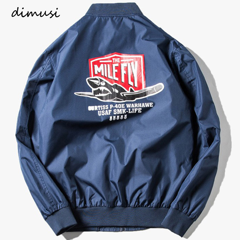 DIMUSI 2017 Men Bomber Jacket Air Force One Patch Designs Slim Fit Pilot Bomber Jackets Coat