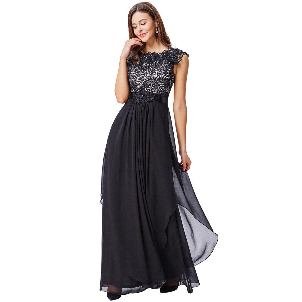 Aliexpress.com : Buy Kate Kasin Black Lace Evening Dresses Long ...