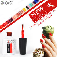 #70312 GDCOCO brand nail art manicure design 30 colors 8ml Soak Off Enamel color nail paint uv gel polish varnish nail lacqer