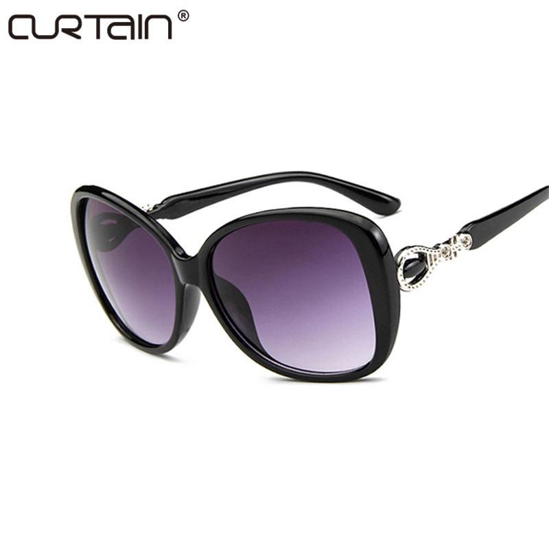 Mote Vintage Oversize Cat Eye Gradient Sunglasses Women Brand Designer Stor ramme Solbriller for kvinnelige dame briller