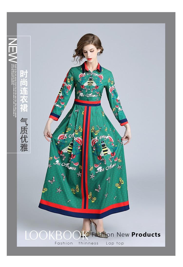Manches Dame Printemps Turn Rayé Col Patchwork Longue Pleine La Chic Style Imprimé Femmes Robes Plus Robe down Taille Casual gPq0A4qRw