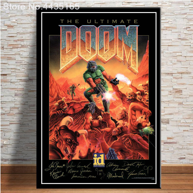 The Ultimate Doom Game Poster Halo Video Games Wall Art Picture Canvas Painting for Living Room Home Decor Posters and Prints