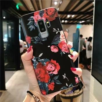 3D Flower Emboss Case For Samsung Galaxy J7 J3 J5 A5 J4 J6 A6 Plus A70 A7 2018 2016 2017 S7 S8 S9 S10 Plus A50 A30 A40 Case TPU 1