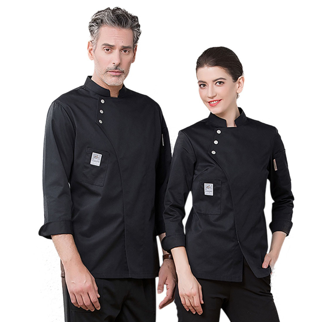 New Chef Uniform Unisex Chef Clothes Bakery Restaurant Kitchen Work Wear Long Sleeve Waitress Catering Chef Jackets Jaleco