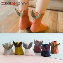 BalleenShiny/короткие носки с маленькими крылышками милые Креативные носки принцессы для новорожденных хлопковые детские мягкие новые милые носки