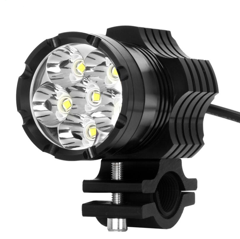 Motorcycle lamp led strong light front lamp super bright external lamp pedal modification auxiliary12V rogue light Free shippin