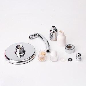 Image 5 - שי רב Fuction גדול כף יד מקלחת ראש 6 אינץ לחץ Boost מפל מקלחת מים באיכות טיהור מקלחת מסנן