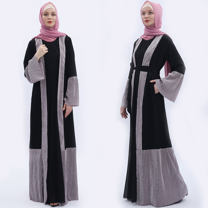 Elegant Muslim Abaya Full Dress Summer Cardigan Kimono Loose Long Robe Gowns Jubah Middle East Eid Ramadan Islamic