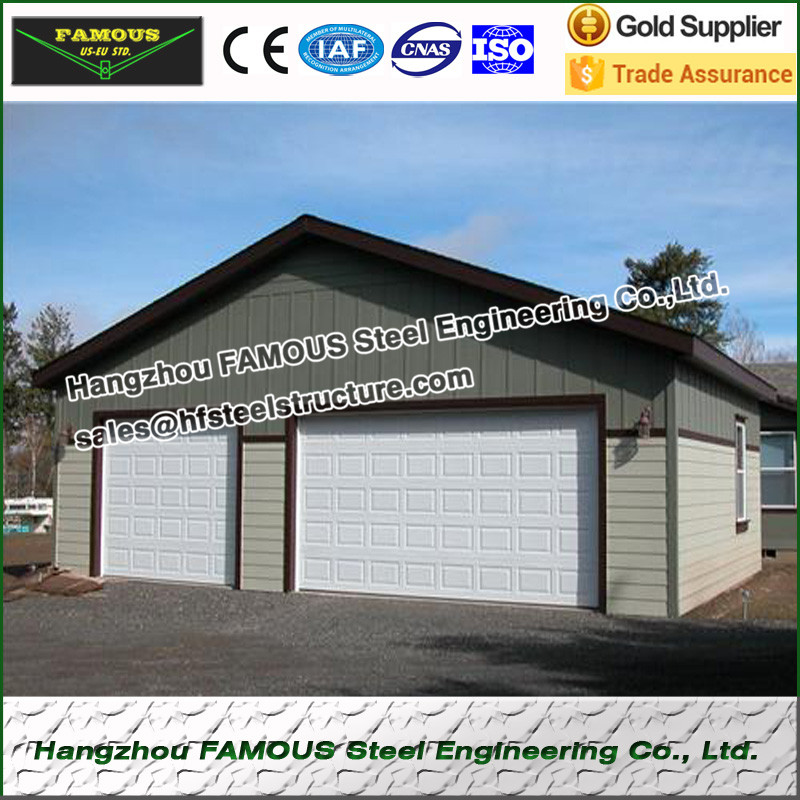 Pre engineered light steel structure garage for barn for Pre engineered garage
