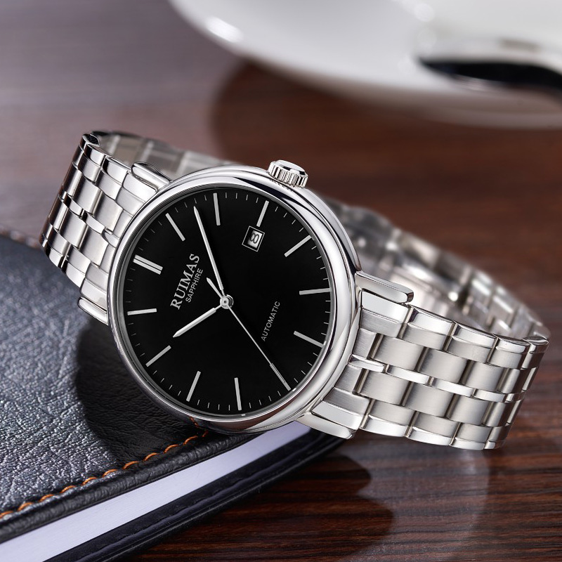 RUIMAS Men Simple Classic Watch Mechanical Movement Male Business Luxury Automatic Wrist Watches Clock Montre Homme