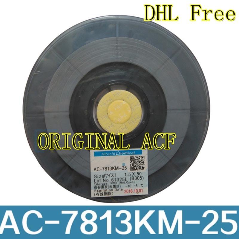Original AC-7813KM-25 for Hitachi ACF conductive tape for cellphone TAB LCD repair AC-7813KM-25 low temperature adhesiveOriginal AC-7813KM-25 for Hitachi ACF conductive tape for cellphone TAB LCD repair AC-7813KM-25 low temperature adhesive