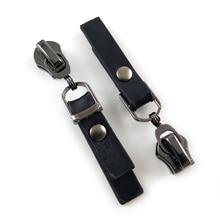 20 шт./лот, современный 5# черный цвет молнии ползунки w/черный PU тянет модная одежда/сумки аксессуары