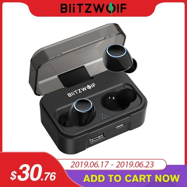 Blitzwolf BW-FYE3 bluetooth V5.0 מגע רגיש אמיתי אלחוטי אוזניות HiFi סטריאו דו צדדי שיחות 2600 mAh עבור טלפון טעינה