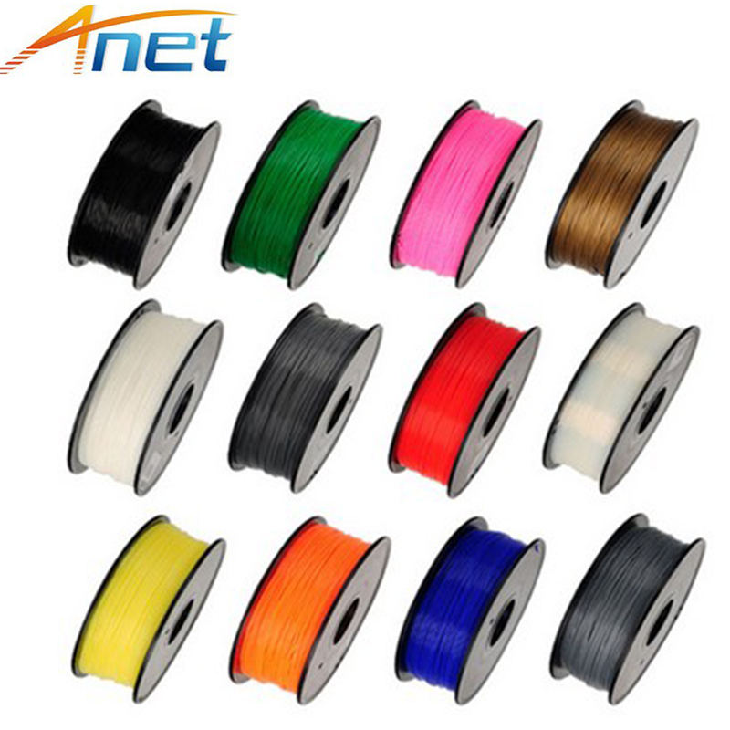 Anet 3D Printer PLA Filaments 1.75mm 1Kg/spool MakerBot/RepRap/U 13 colors option abs luminous green filaments 1 75mm 1kg spool wanhao 3d printer