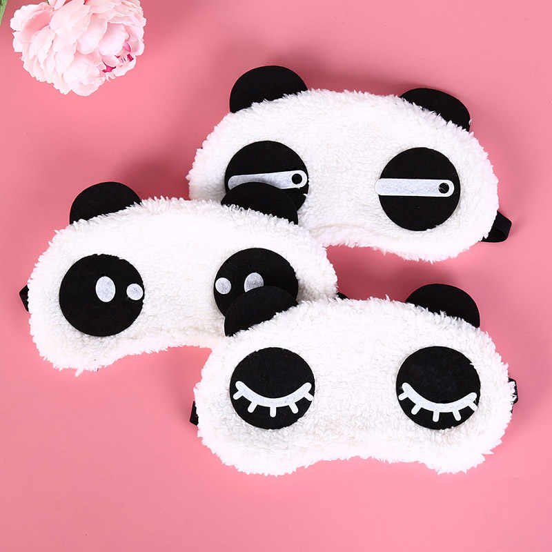 1 шт. черная маска повязка на глаза для сна мультфильм панда расслабляющий лед или горячий компресс повязка на глаза для сна