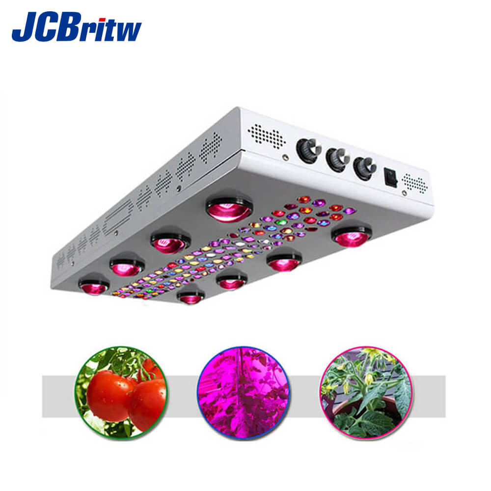 1200W New Noah 8s LED Grow Lights Full Spectrum With COB And LED Diodes. Can Switch To Four Modes For Different Growing Stages
