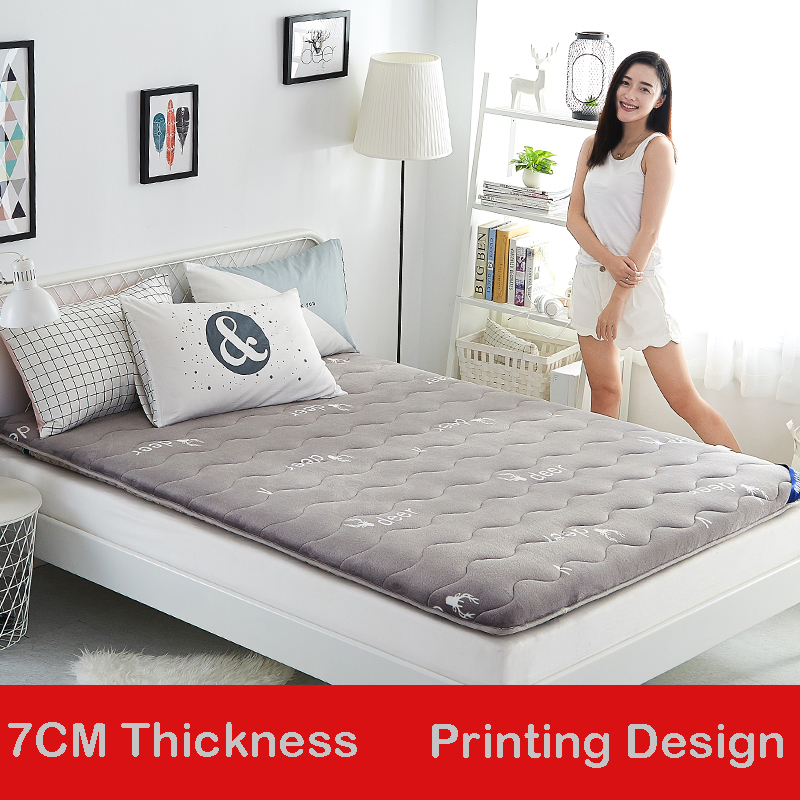 Infant Shining 7CM Mattress Thickened Flannel Mattress Double Sided Design  Bed Mat Hard And Soft Moderate Mattress Four Seasons In Mattresses From  Furniture ...