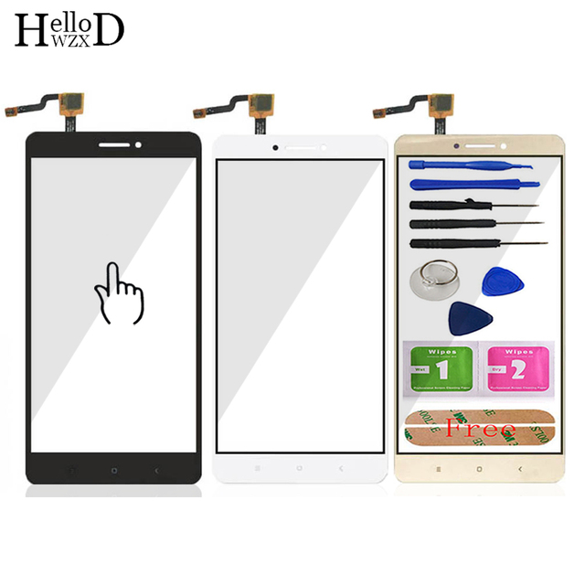 6.44'' Touch Glass For Xiaomi Mi Max 2 Touch Screen Glass Digitizer Panel Front Glass For Xiaomi Max 2 Lens Sensor Tool Adhesive