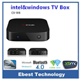 Wintel w8 smart tv caja de doble sistema operativo windows 10 y android 4.4 intel atom z3735f Quad Core Dual Boot CPU 2 GB 32 GB Intel Set Top Box Mini PC