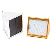 Waterproof 20 LED White Light Aluminium Alloy Solar Power PIR Motion Sensor Wall Light With 4