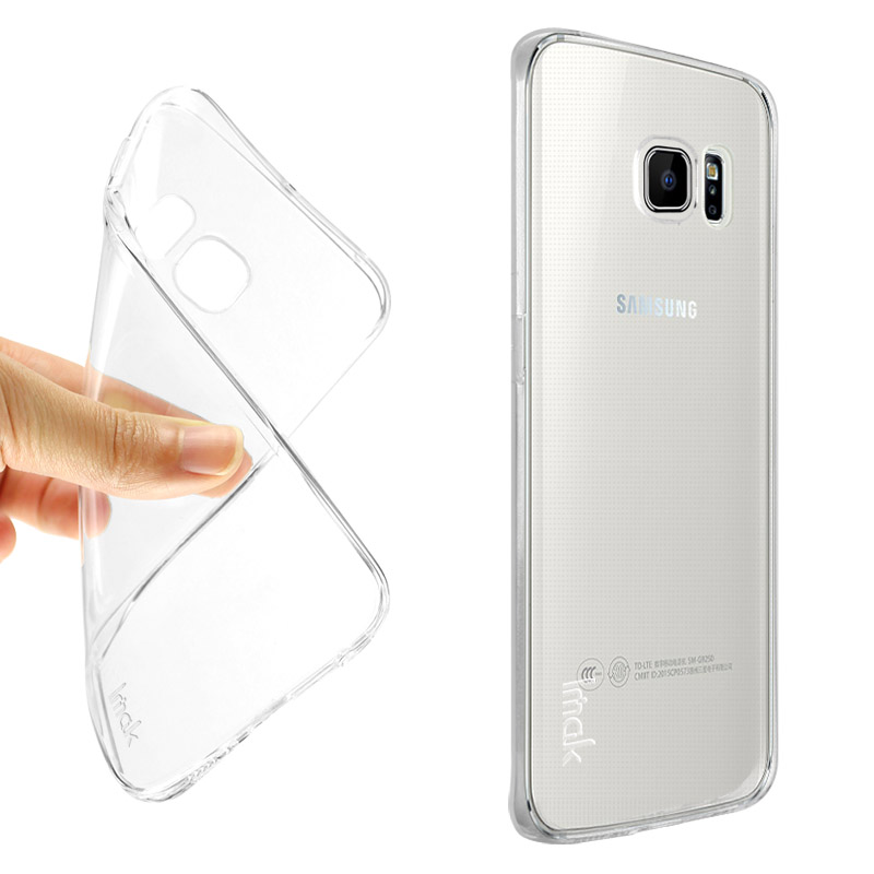 best loved e46a5 eda14 US $5.7 |IMAK TPU Clear Cover for Samsung Galaxy S7 edge G935f Duos Case  Back Cover Super Slim Stealth Flexible Protective Skin Shell-in Fitted  Cases ...