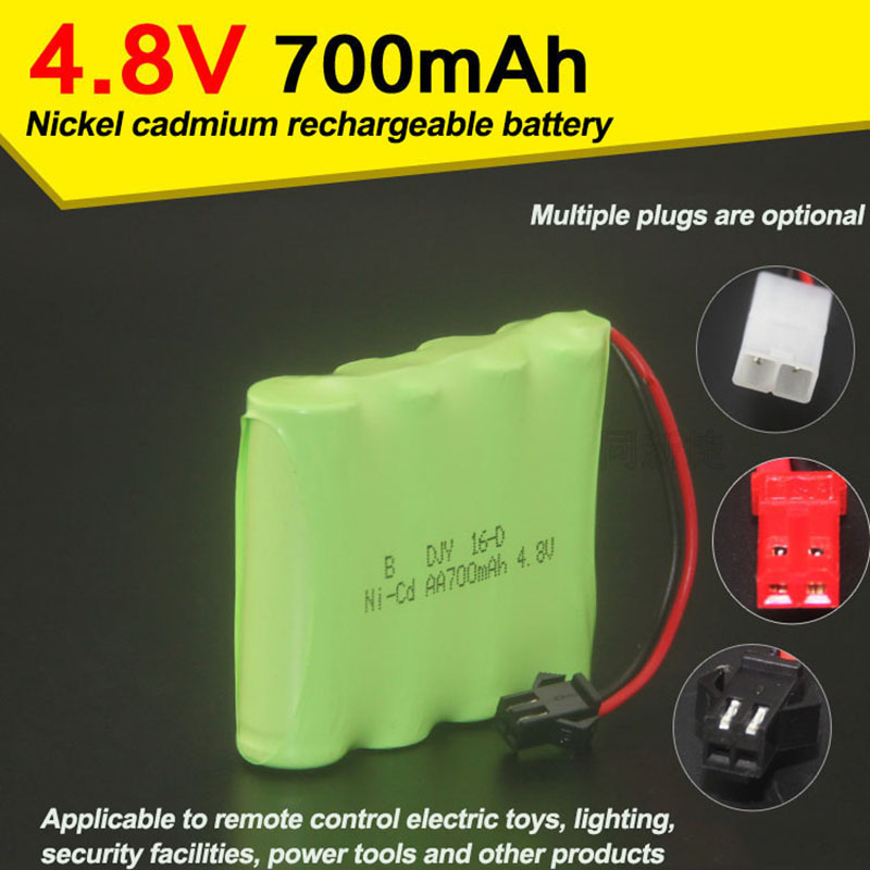 <font><b>4.8V</b></font> 700mAh Remote control aircraft parts Ni Cd battery AA5 remote control electric toy accessories image