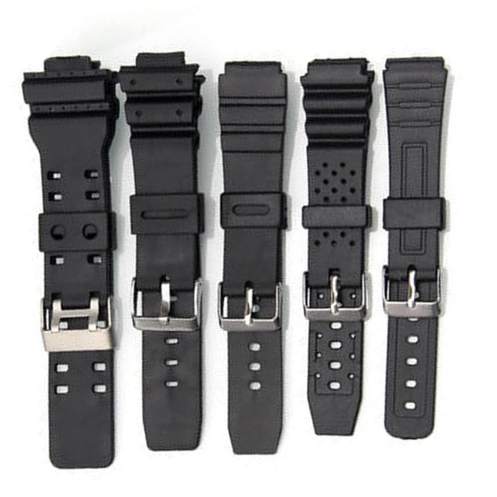 68cc528d47e3 Comprar Venta de banda de goma de silicona hombres deportes buceo negro  para CASIO reemplazar correa de reloj electrónico accesorios de reloj  Online Baratos