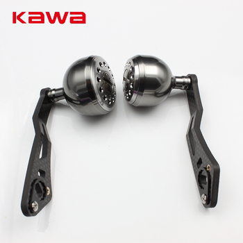 KAWA New Model High Quality Strong Carbon Fiber Fishing Reel Handle for Water-drop Reel, Hole size 8x5mm and 7*4mm Together