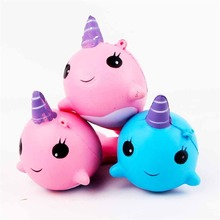 9*8 cm Slow rebound whale Elastic Environmentally PU toy/collections/cellphone straps Slow Rising Squeeze Toy more than 6 years