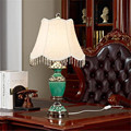 High Quality Europe Modern Fashion Ceramic Fabric Tassel Led E27 Table Lamp for Living Room Bedroom Bedside AC 80-265V 1307