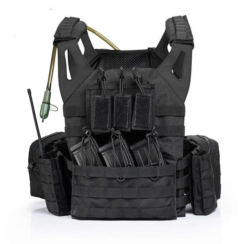 Lightweight Combat Molle System Tactical Vest Outdoor CS Field Army Training Shooting Sports Protect Waistcoat With Water Bag