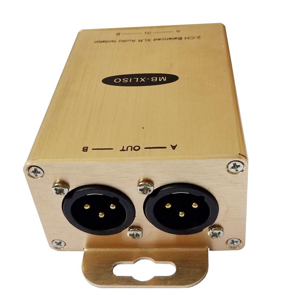 Professional Audio Ground Isolator XLR Audio Isolator Analog AES/EBU Audio Eliminate Noise Isolator