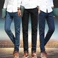 VEITCHE de alto grado de la Marca de Ropa Nueva 2016 de verano de algodón de lino hombres pantalones pitillo azul lápiz pantalones casuales pantalones homme venta al por mayor