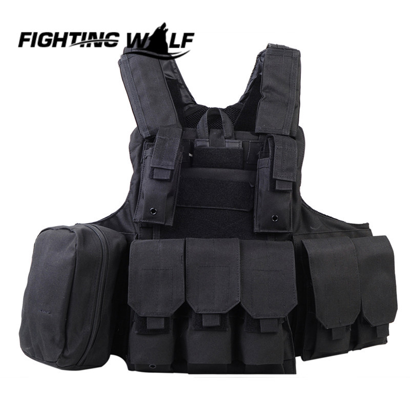 ФОТО Outdoor Man Molle Airsoft Tactical Strike Plate Carrier Vest Lightweight Durable Adjustable Hunting Vest Military Army Gear