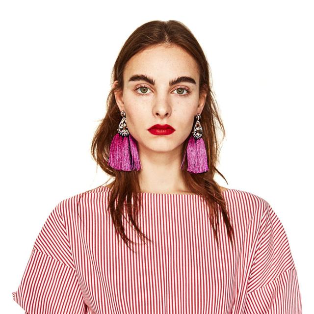 Vintage Fringed Tassel Earrings