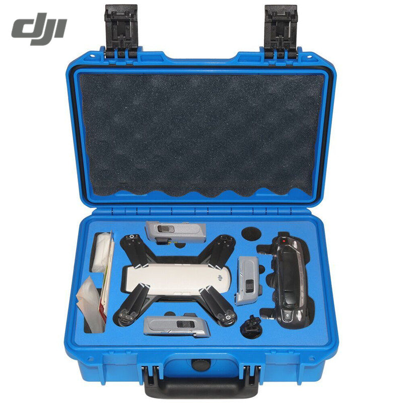 DJI Spark Blue Yellow Black Realacc Waterproof Hardshell Hand Bag RC Drone Suitcase Box Backpack Carrying Case Bag