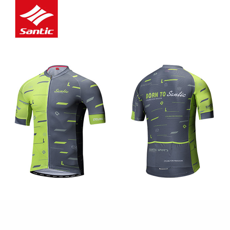 Santic Men Short Slrrve Cycling Jersey Professional Competition Road Bike MTB Bike Riding Jerseys Summer Bicycle
