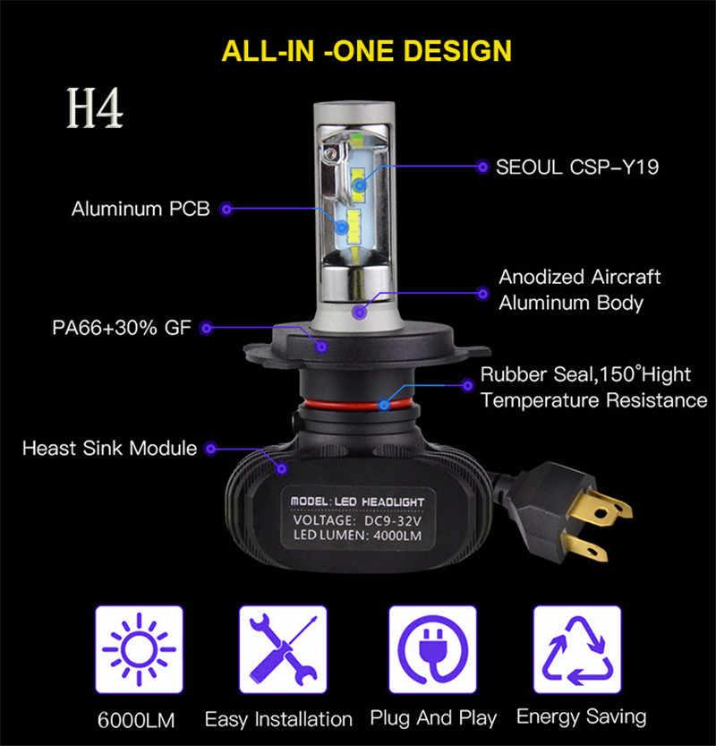 New H27/880 h4 H7 Led Headlight H13 9005 HB3 9006 HB4 Led Car Bulb 6500K 8000LM CSP Chip 72W Fan-less H8 H11 Fog Lamp Promotion