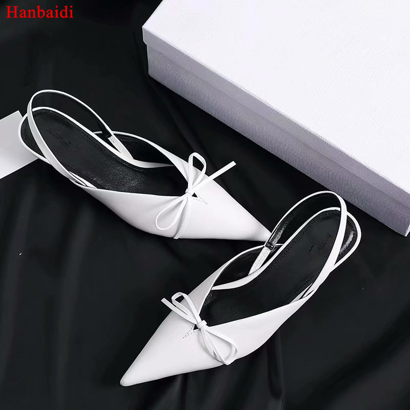 Hanbaidi Luxury Design Silk Women Buckle Pumps Sexy Pointed Toe Bowknot Party Wedding Shoes Runway Outfit Gladiator Dress Shoes ladylike women s pumps with round toe and bowknot design