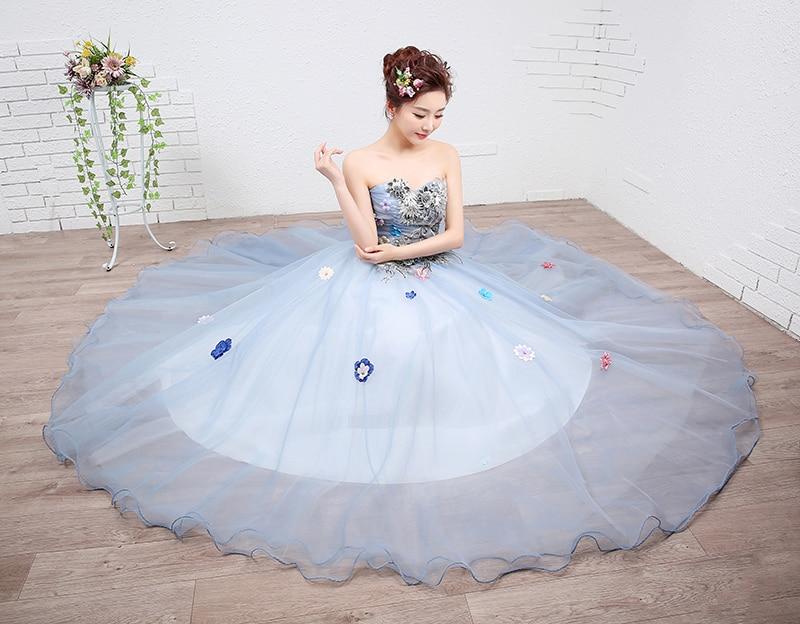 Lace Flower Girls Colored Wedding Dress 2017 New Fashion Strapless Party  Female Art Exam Gowns Part Dress Vestidos De Novia-in Wedding Dresses from  Weddings ... fbfb7921214b