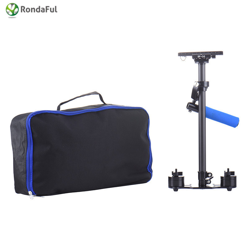 Handle Grip Camera Stabilizer with Quick Release Plate Carbon Fiber for Canon Nikon Sony Pentax DSLR Camcorder DV Mini Handheld ashanks mini carbon fiber handheld stabilizer pro version for camera video dv dslr nikon canon sony