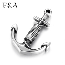 Stainless Steel Anchor Pendant Blacken DIY Necklace Bracelet Hooks Charms Findings Jewelry Making Supplies Parts Wholesale