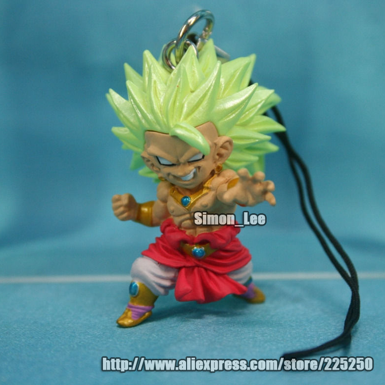 Anime DRAGONBALL Dragon Ball Z/GT Original BANDAI Phone/Key Chain Gashapon PVC Toys Action Figures UDM 3 Super Saiyan Broly - DRAGON BALL Store store