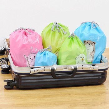 A2594 waterproof clothing shoes bundle pocket, washing and drawing rope, bag, travel environment-friendly bag image